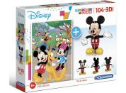 Clementoni Puzzle Supercolors 104 dílků 3D model Mickey Mouse