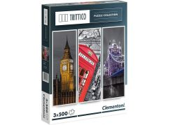 Clementoni Puzzle Trittico Londýn 3 x 500 dílků