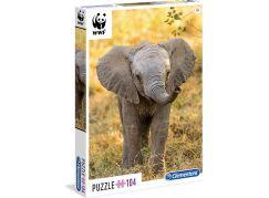 Clementoni Puzzle WWF Slůně 104d