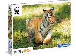 Clementoni Puzzle WWF Tygřík 104d