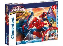 Clementoni Spiderman Supercolor Puzzle 60 dílků