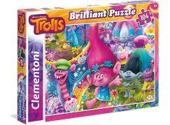 Clementoni Trollové Briliant Puzzle 104d
