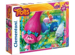Clementoni Trollové Puzzle Maxi Supercolor 60 dílků
