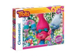 Clementoni Trollové Supercolor Glitter Puzzle 104d