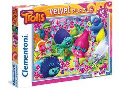 Clementoni Trollové Velvet Puzzle 60d