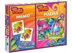 Clementoni Trolové Puzzle 60 dílků + pexeso