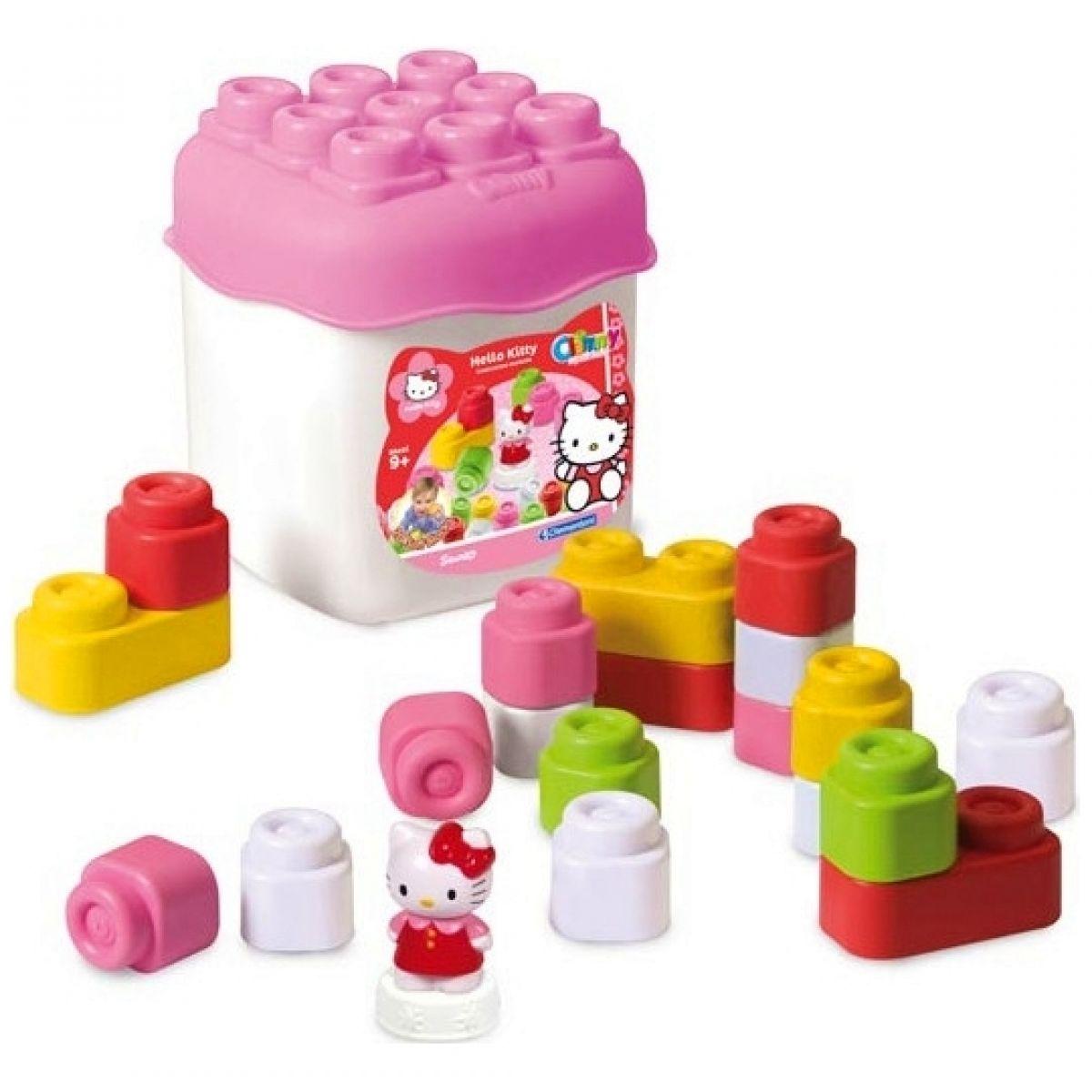 Clemmy 16 barevných kostek v kyblíku Hello Kitty