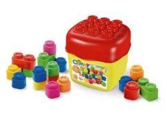 Clemmy baby - 20 barevných kostek v kyblíku