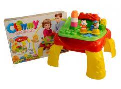 Clemmy baby - Veselý hrací stolek s kostkami zvířátka