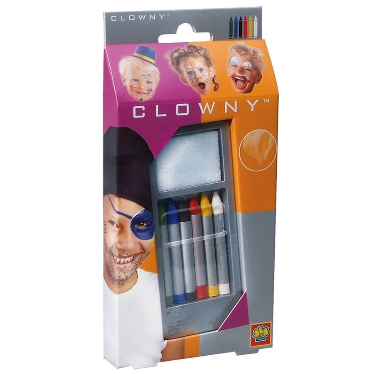 Clowny Barvy tužky na obličej - 6 barev