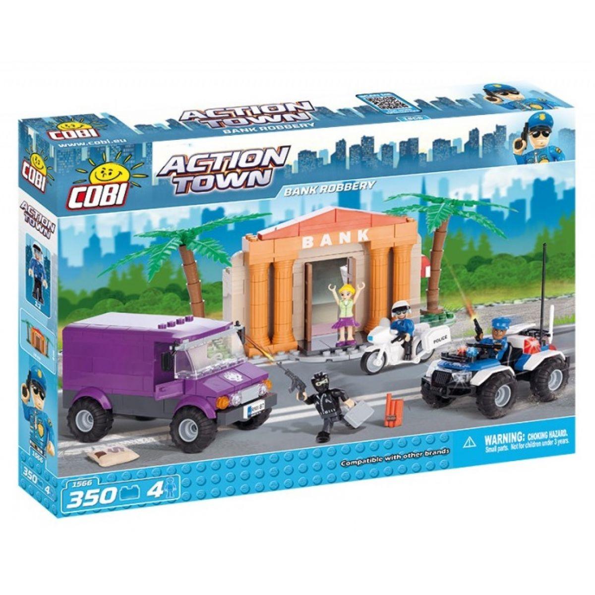 Cobi 1566 Action Town Policie Velká bankovní loupež