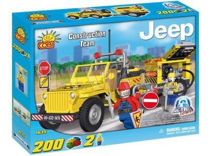 Cobi 1635 Action Town Stavební Jeep s kompresorem