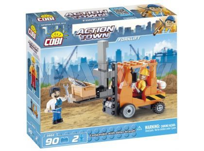 Cobi 1661 Action Town Vysokozdvižný vozík
