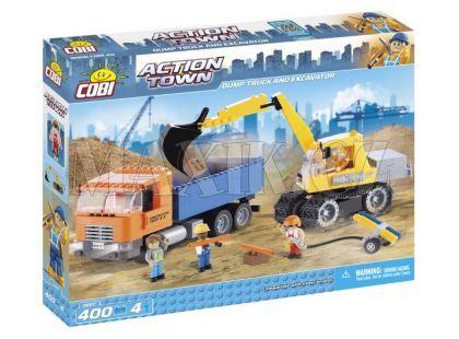 Cobi 1667 Action Town Sklápěčka a pásový nakladač