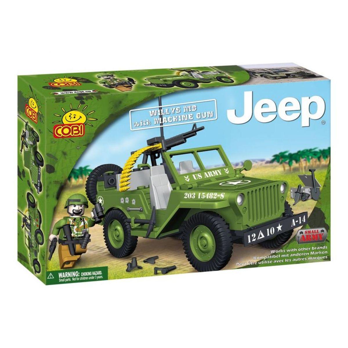 Cobi 24112 Jeep Willys s kulometem