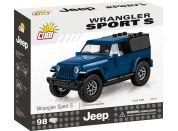 Cobi 24115 Jeep Wrangler Sport S 1:35 modrý