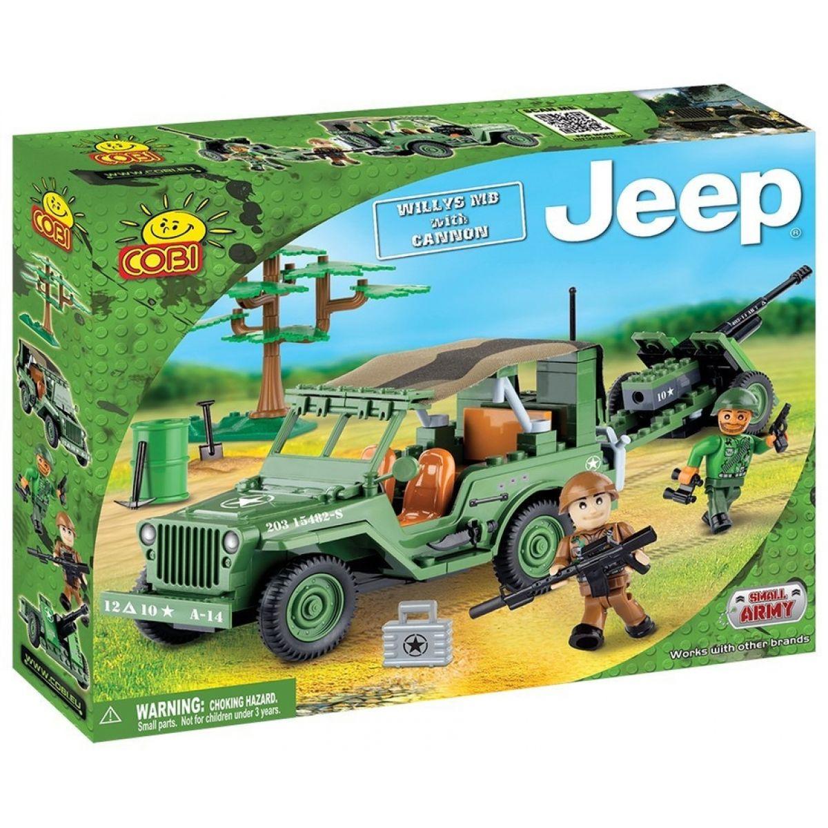 Cobi 24191 Malá armáda JEEP Willys MB ozbrojený