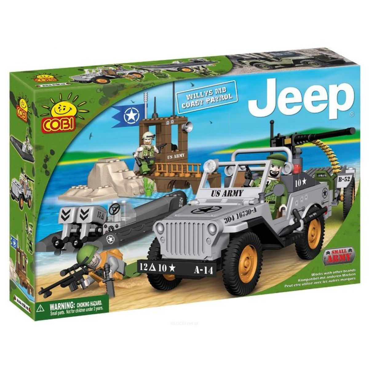 Cobi 24251 Jeep Willys s pontonem