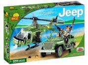Cobi 24252 Malá armáda Jeep Willys MB s vrtulníkem