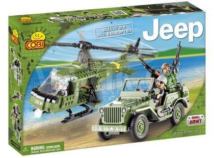 Cobi 24254 Malá armáda JEEP Willys MB s vrtulníkem