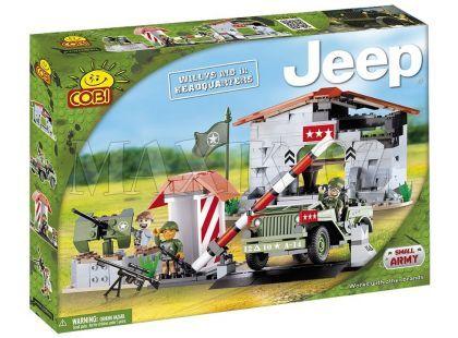 Cobi 24310 Malá armáda JEEP Willys MB velitelská základna