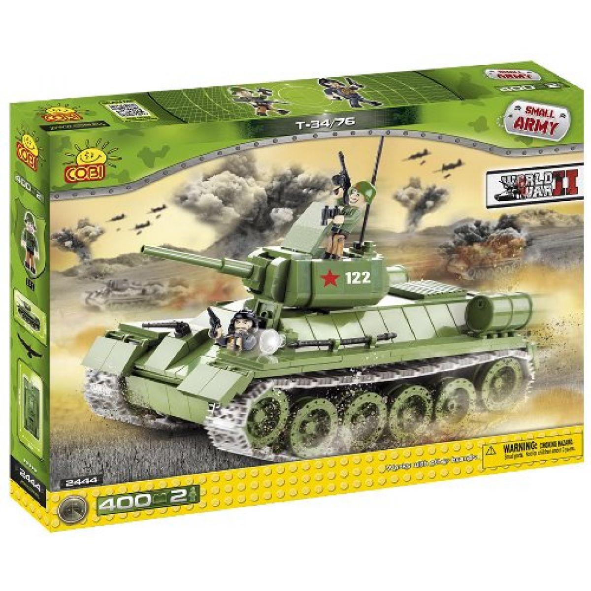 Cobi 2444 Malá armáda Tank T34 - Poškozený obal