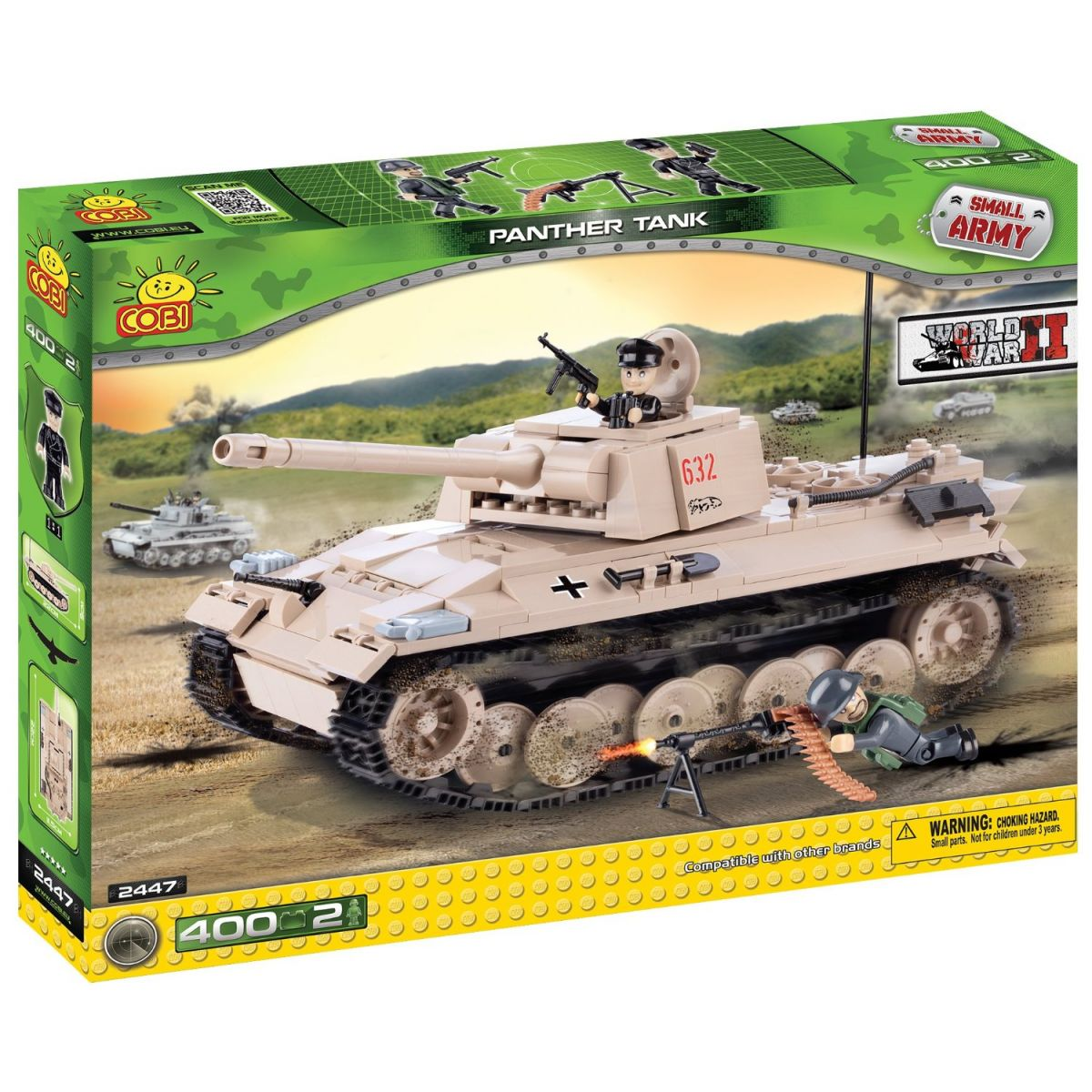 Cobi 2447 Malá armáda Německý tank Panther