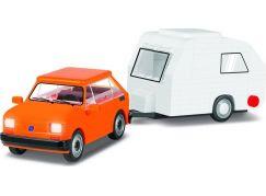 Cobi 24591 Youngtimer Polský Fiat 126 el s karavanem