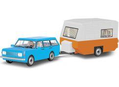 Cobi 24592 Youngtimer Wartburg 353 Tourist s karavanem