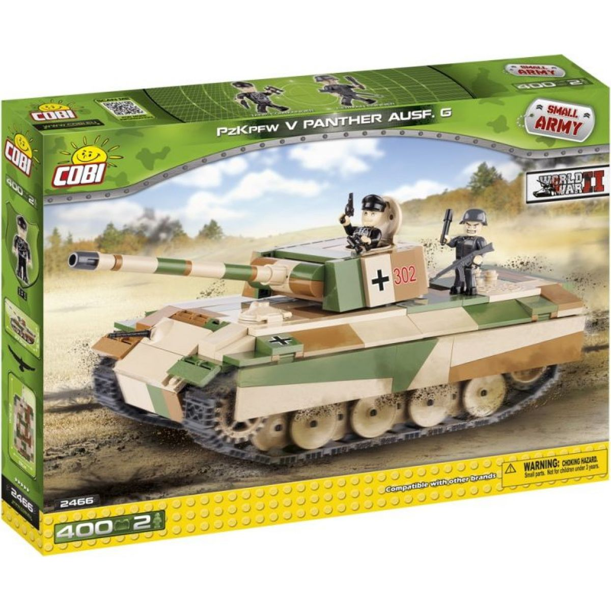 Cobi 2466 Malá armáda PzKpfw V Panther Ausf. G
