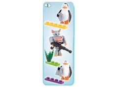 Cobi 26003 Tučňáci z Madagaskaru Tři figurky v blistru - Tučňáci a Rat King