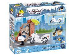 Cobi Action Town 1560 Policie Honička na motorce