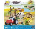 Cobi Action Town 1873 Farma traktor a kráva 3