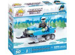 Cobi Action Town Policejní sněžný skútr 50 kostek