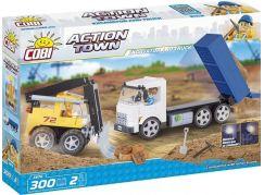 Cobi Action Town Stavba Buldozer a sklápěč 300 kostek
