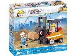 Cobi Action Town Stavba Vysokozdvižný vozík 90 kostek