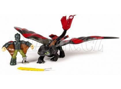Cobi Jak vycvičit draka Drak a jezdec - Hiccup a Toothless s červenými křídly