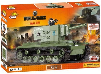 Cobi Malá armáda 3004 World of Tanks KV-2