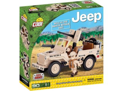 Cobi Malá armáda 24093 Jeep Willys MB North Africa 1943