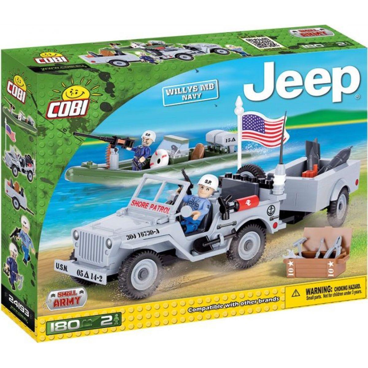 Cobi Malá armáda 24193 Jeep Willys MB US Navy