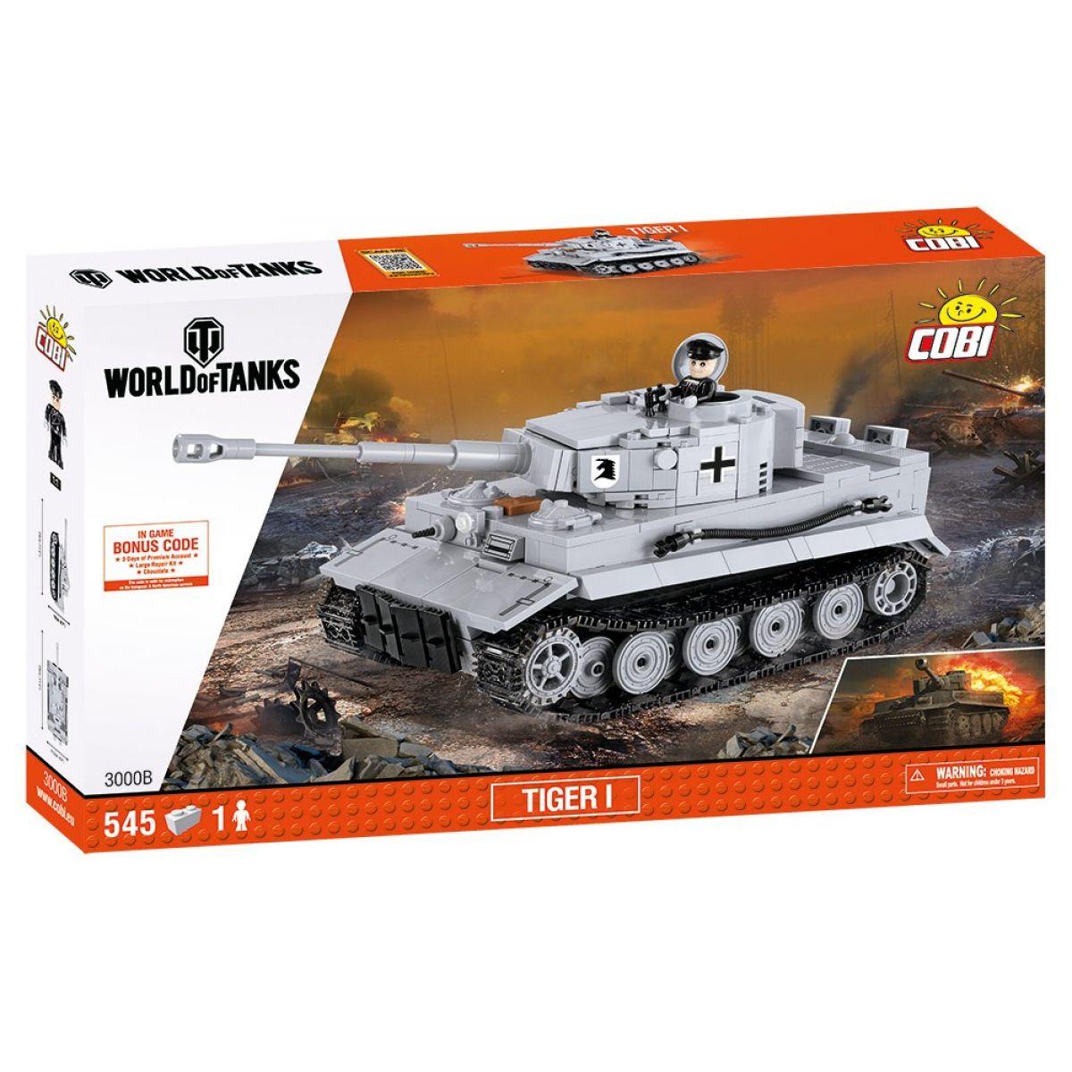 Cobi Malá armáda 3000B World of Tanks Tiger I  - Poškozený obal