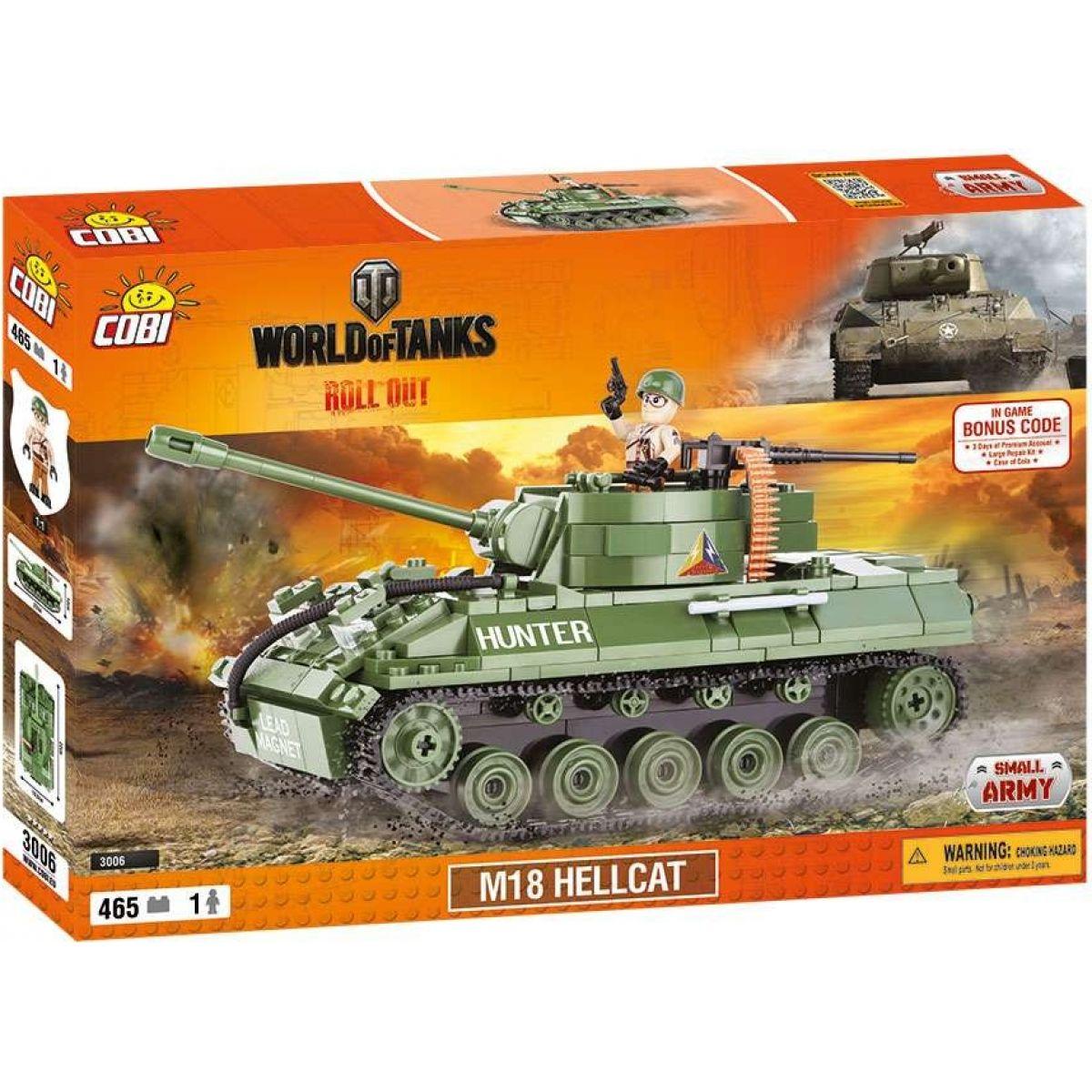 Cobi Malá armáda 3006 World of Tanks M18 Hellcat