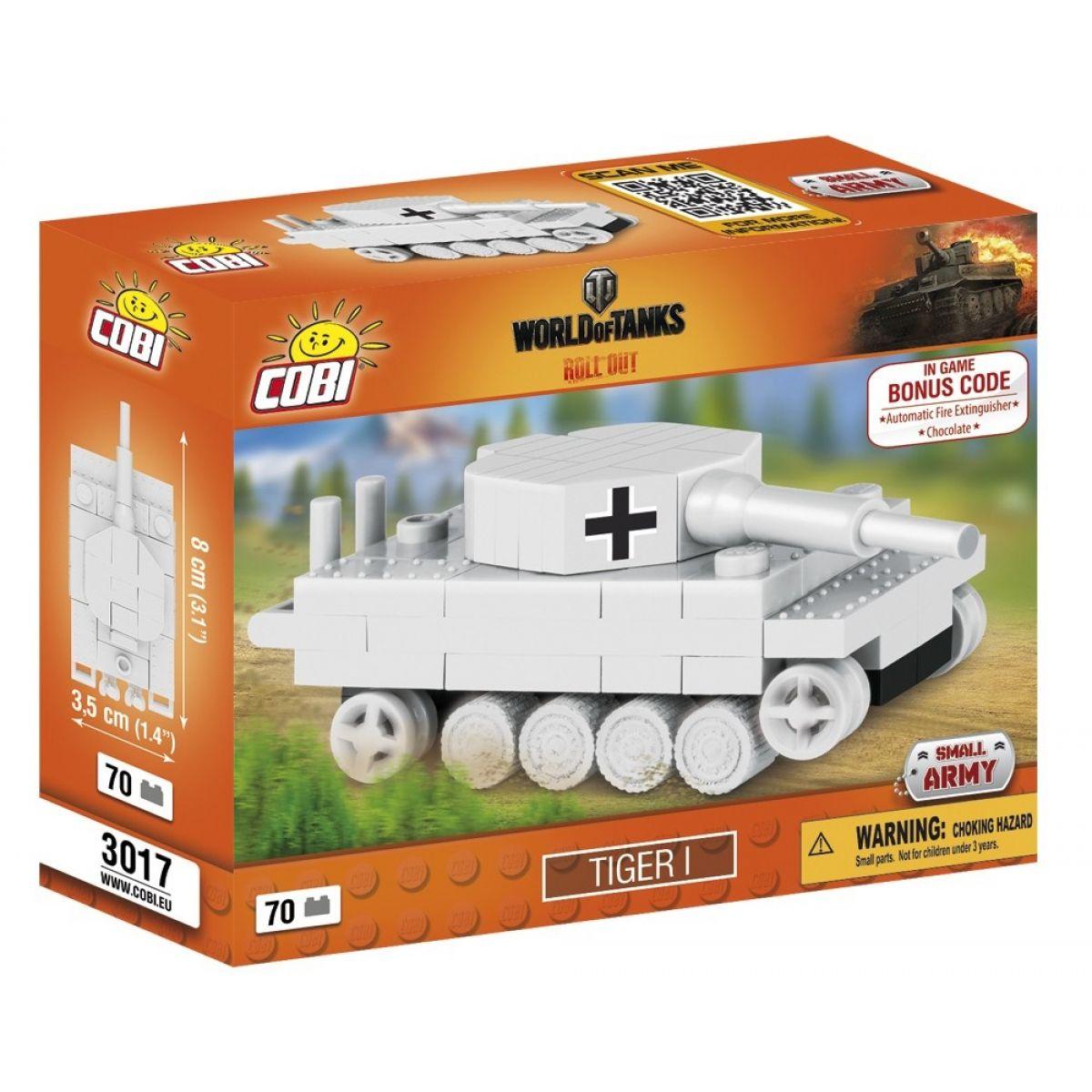 Cobi Malá armáda 3017 World of Tanks Nano Tank Tiger I