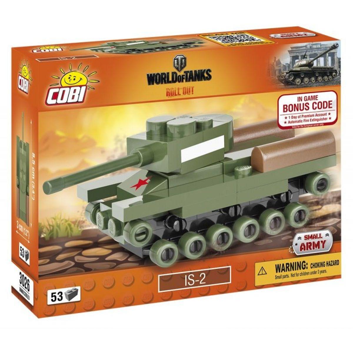 Cobi Malá armáda 3026 World of Tanks Nano Tank IS2
