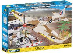 Cobi Malá armáda 5546 II WW Supermarine Spitfire Hangár