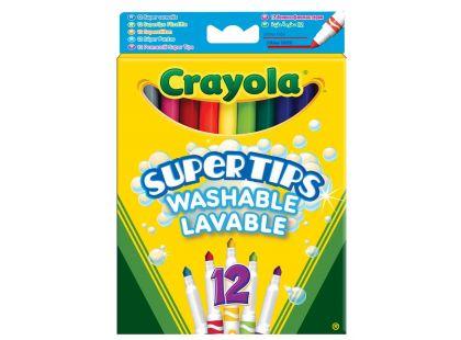 Crayola Fixy Supertips vypratelné 12ks