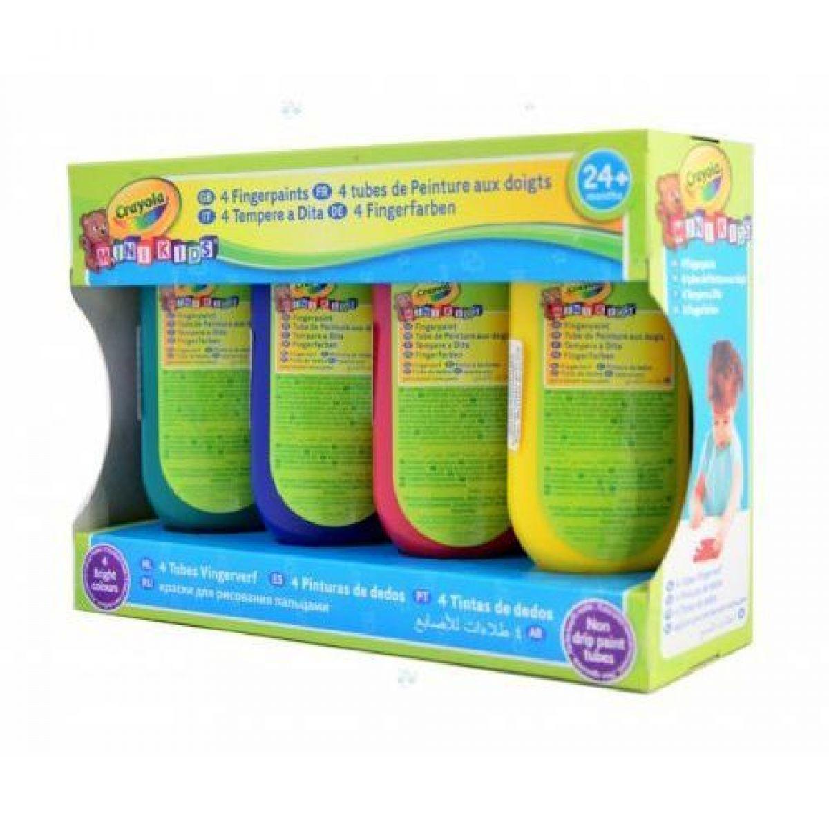 Crayola Mini Kids Prstové barvy 4ks - Poškozený obal