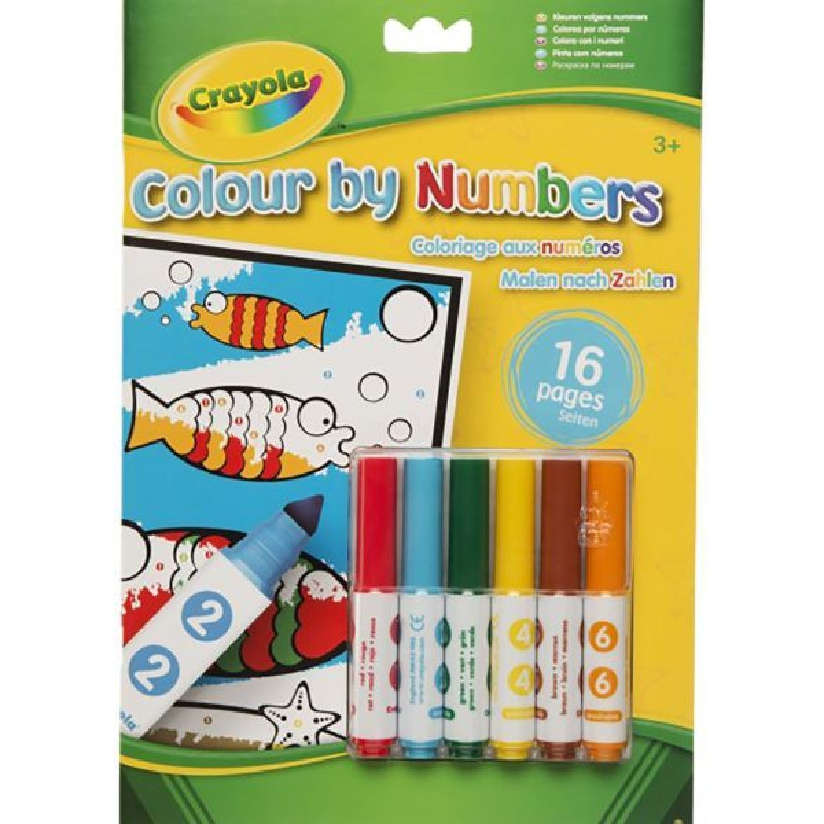 Crayola Vybarvování s fixami podle čísel