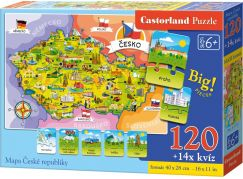 Creatoys Puzzle Mapa České republiky 120 dílků