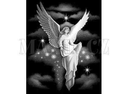 Creatoys Reeves Škrábací obrázek stříbrný 20x25cm - Anděl